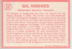 547 Gil Hodges back